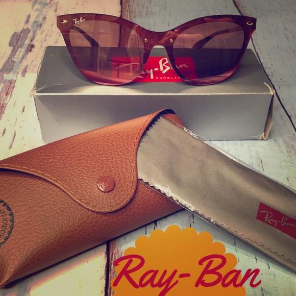 8d113c08b4608 New Ray-Ban Pink Mirrored Cat-Eye Sunglasses